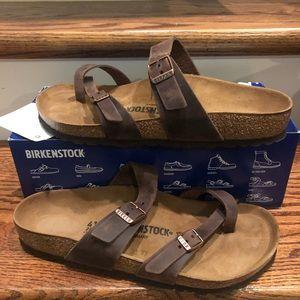 Birkenstock Mayari Brown Leather new